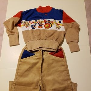 Boys 2 piece corduroy outfit